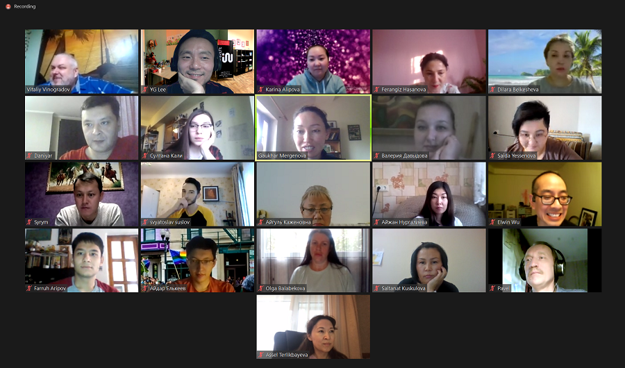 zoom meeting with all of the staff training