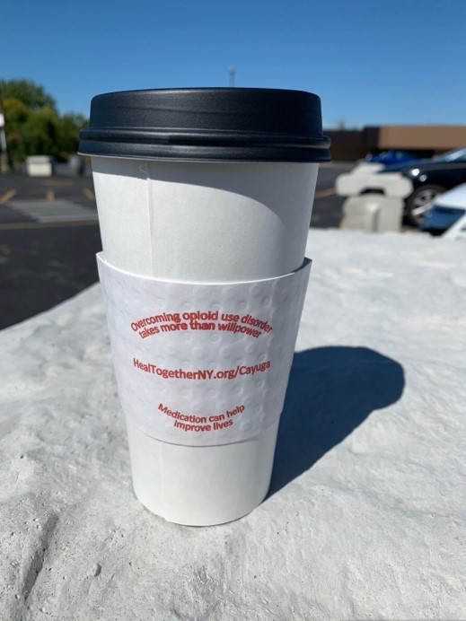 Coffee cup with message it takes more than willpower