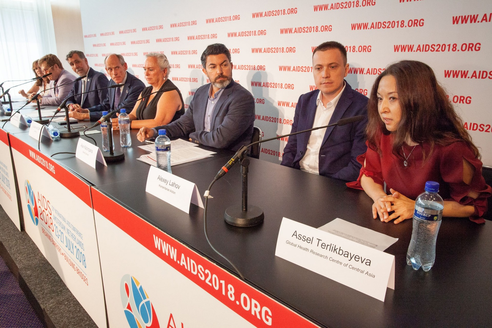 The Netherlands, Amsterdam, 24-7-2018. Pressconference on Eastern Europe and Central Asia with Assel Terlikbayeva describing situation on AIDS/HIV in the region. Photo: Rob Huibers for AIS.
