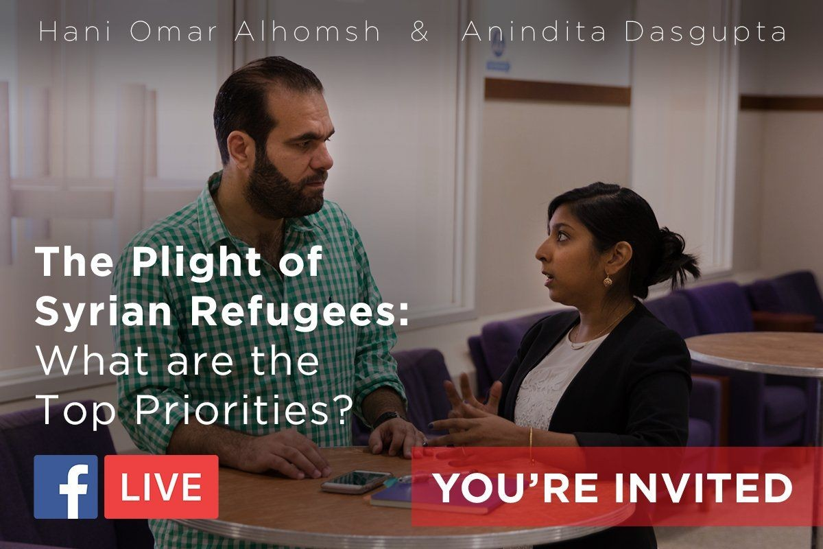 ASPIRE hosts an event on the plight of Syrian Refugees