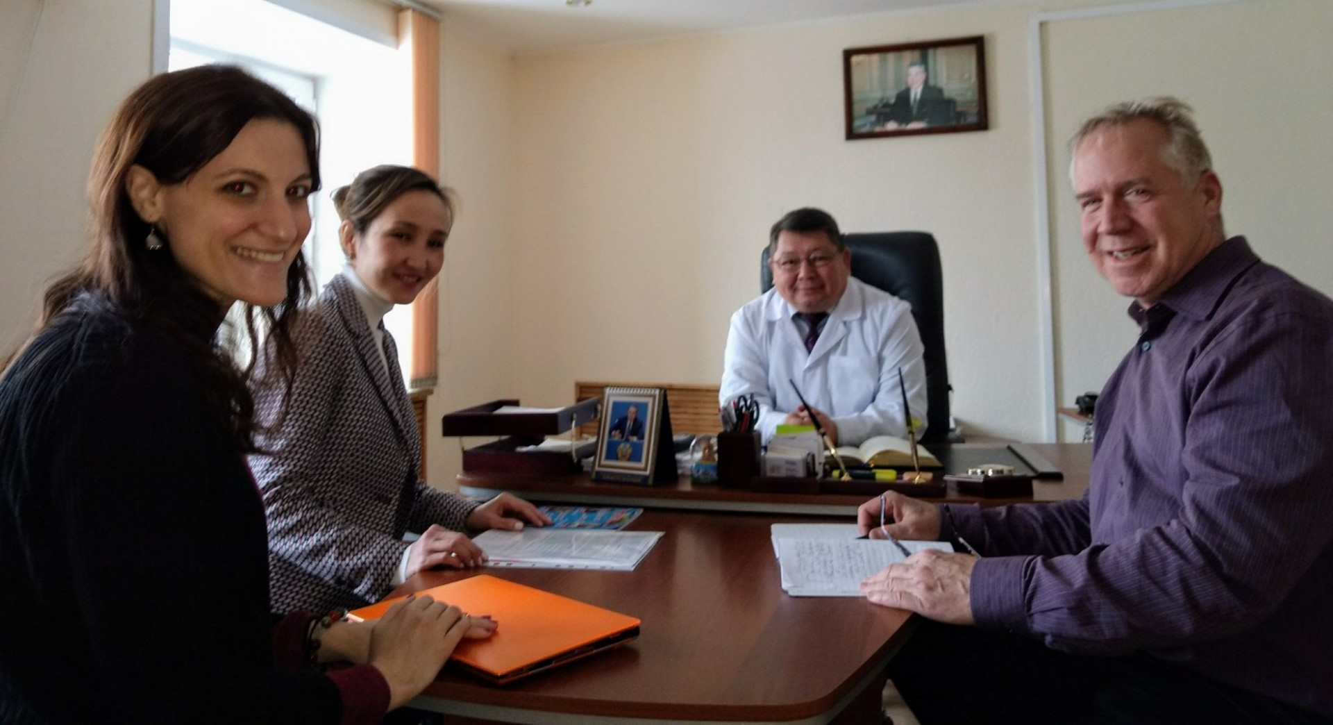 BRIDGE team meets with partners from the Karaganda Regional AIDS Center