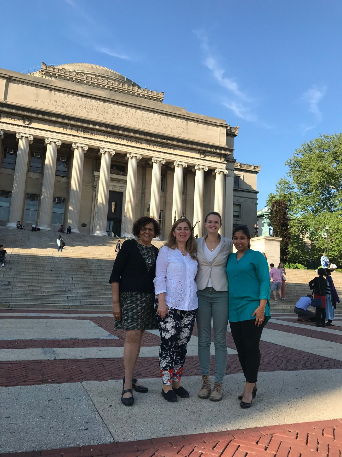 ASPIRE leadership in front of Columbia University
